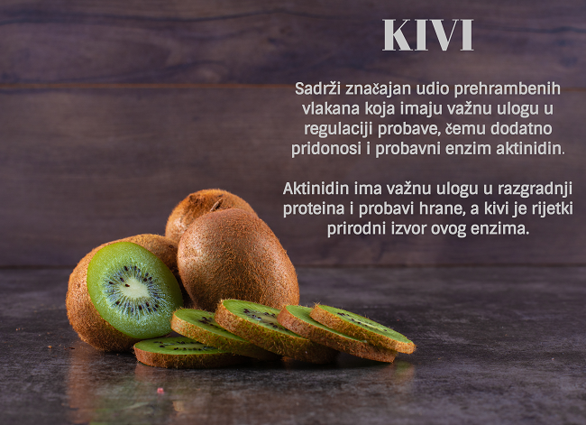 Kivi, iz Kivilaksa, bogat je biljnim vlaknima, vitaminom C i cinkom